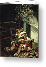 Children Dreaming Of Toys Greeting Card