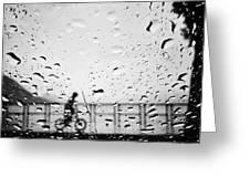 Children In Rain Greeting Card