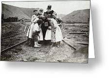 Children With Camera, C1900 Greeting Card