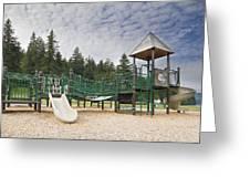 Childrens Playground At Lake Merwin Park Greeting Card