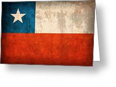 Chile Flag Vintage Distressed Finish Greeting Card