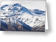 Chilean Andes Greeting Card by Susan Hernandez