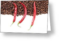 Chili And Coffee Greeting Card