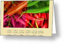 Chili Pepper 2014 Calendar Greeting Card