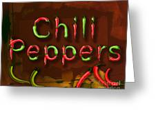 Chili Peppers Greeting Card