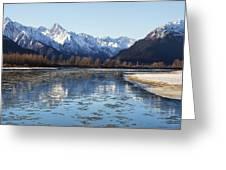 Chilkat River Freeze Up Greeting Card