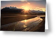 Chilkat River Sunset Greeting Card