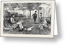 Chill October Rotten Row 1871 Greeting Card