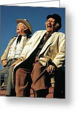 Chill Wills And Andy Devine Singing Atop A Stagecoach Old Tucson Arizona 1971 Greeting Card