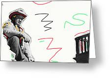 Chill Wills The Alamo Homage 1960 Greeting Card