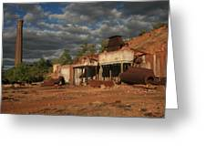Chillagoe Smelter Greeting Card by Gordon  Grimwade