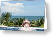 Chilled In Paradise Greeting Card