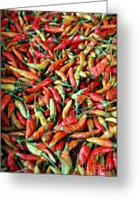 Chilli Background Greeting Card