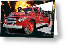 Chilliwack Fire-coming Out Into The Fire Greeting Card