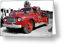 Chilliwack Fire- Mercury Firetruck Greeting Card
