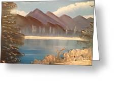 Chilly Mountain Lake Greeting Card