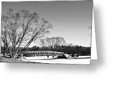 Chilly Walk Greeting Card