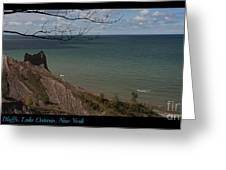 Chimney Bluffs Lake Ontario New York Greeting Card