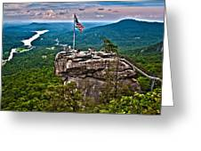 Chimney Rock At Lake Lure Greeting Card