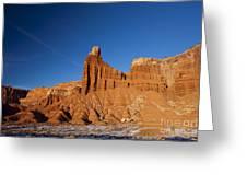 Chimney Rock Capitol Reef National Park Utah Greeting Card