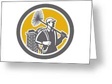 Chimney Sweeper Worker Retro  Greeting Card by Aloysius Patrimonio