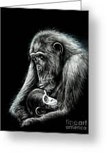 Chimp Love Greeting Card