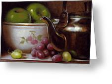 China Bowl And Teapot Greeting Card by Timothy Jones