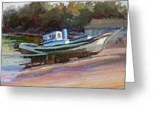 China Camp Boat Greeting Card