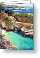 China Cove Point Lobos Greeting Card