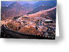 China Great Wall Adventure By Jrr Greeting Card