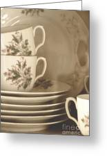 China Place Settings Greeting Card