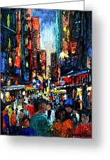 China Town Greeting Card by Anthony Falbo