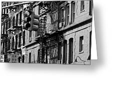 China Town Fire Escape Greeting Card