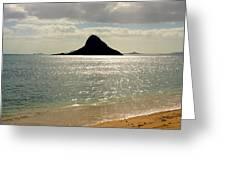 Chinaman's Hat Hawaii Greeting Card