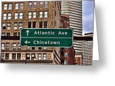 Chinatown Boston Greeting Card