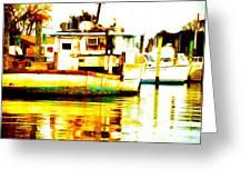 Chincoteague Boat Reflections Greeting Card