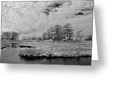Chincoteague Island Infrared Pano Greeting Card
