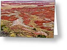 Chinde Point In Painted Desert In Petrified Forest National Park-arizona Greeting Card