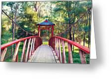 Chinese Bridge Wandiligong Greeting Card