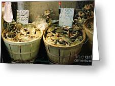 Chinese Crabs For Sale Greeting Card