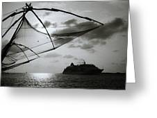 Approaching Cochin Greeting Card