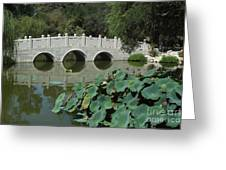 Chinese Garden Scene Greeting Card