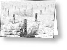 Chinese Grave Markers Greeting Card