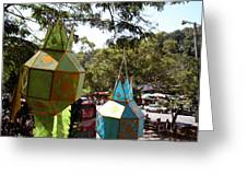 Chinese Lanterns - Wat Phrathat Doi Suthep - Chiang Mai Thailand - 01135 Greeting Card