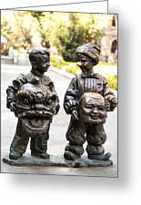 Chinese Statues Greeting Card