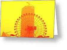 Chinese Wonder Wheel Greeting Card