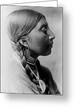 Chinookan Indian Woman Circa 1910 Greeting Card