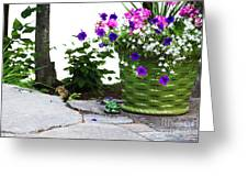 Chipmunk And Flowers Greeting Card