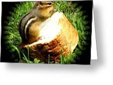 Chipmunk Saying Grace Greeting Card