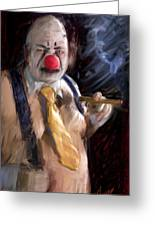 Chippy The Clown Greeting Card